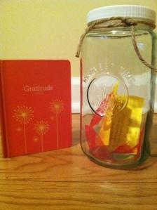 gratitude journal and jar