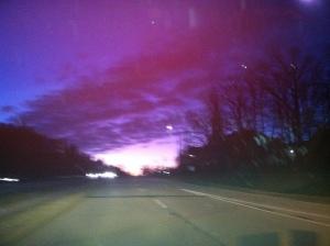 early morning sky January 2013