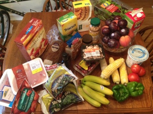 A recent grocery shopping trip (and this was all for me)...everything met the challenge!