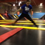 Flight Trampoline, me in action 3