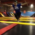 Flight Trampoline, me in action 4