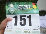 race bib Lost Dog